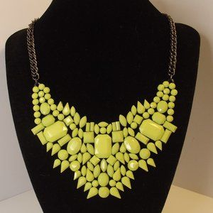 Chartreuse Green Statement Necklace
